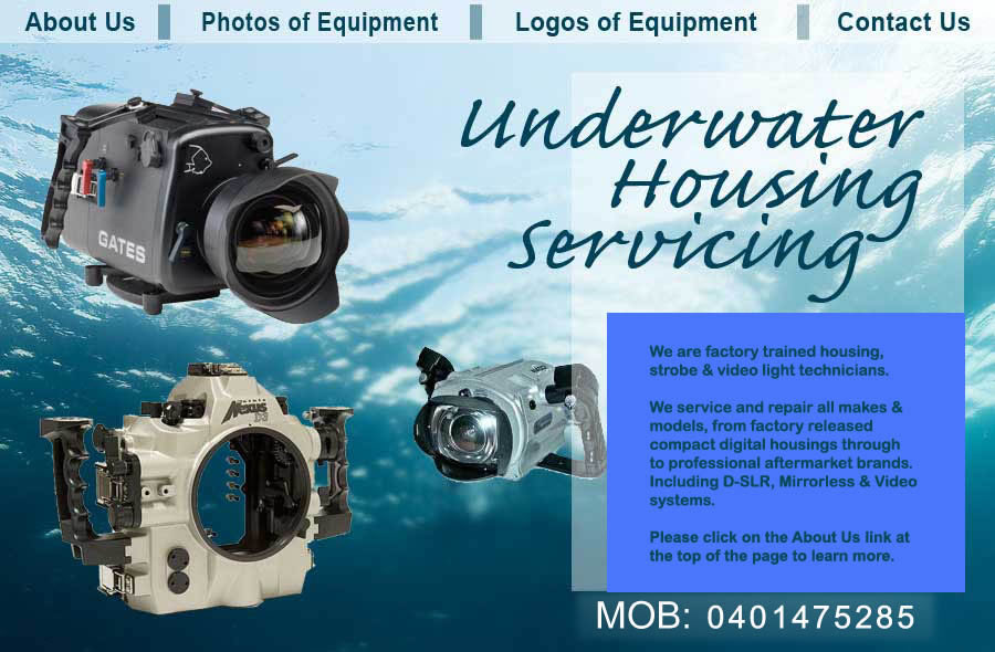 Welcome to Underwater Housing Servicing Website
